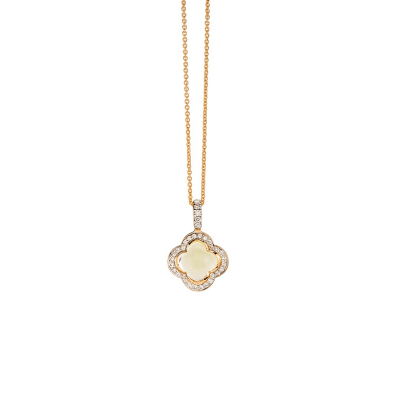 Quadrifoglio Lemon Quartz Necklet