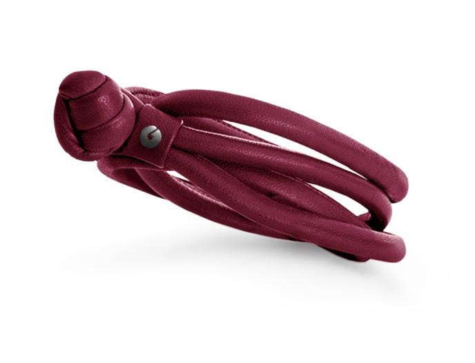 Sweet Drops Leather Bracelet - Red Wine