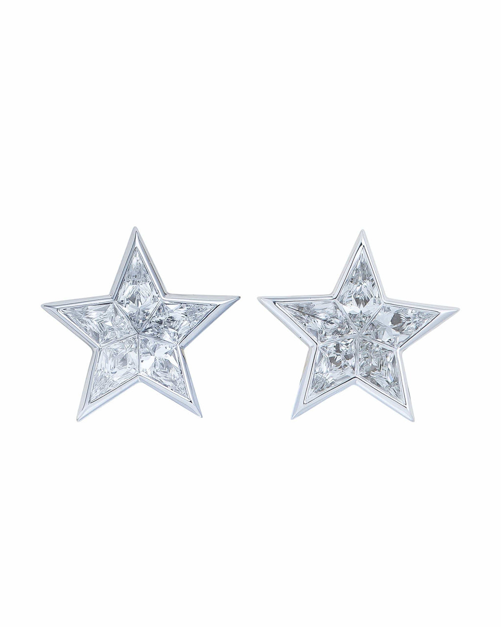 Star Shape Diamond Stud Earrings