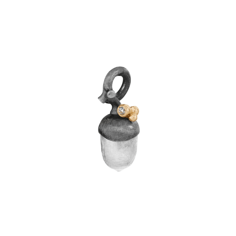 Forest Small Silver & 18kt Gold Acorn Pendant