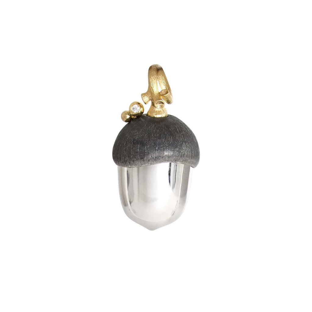 Forest Large Silver & 18kt Gold Acorn Pendant