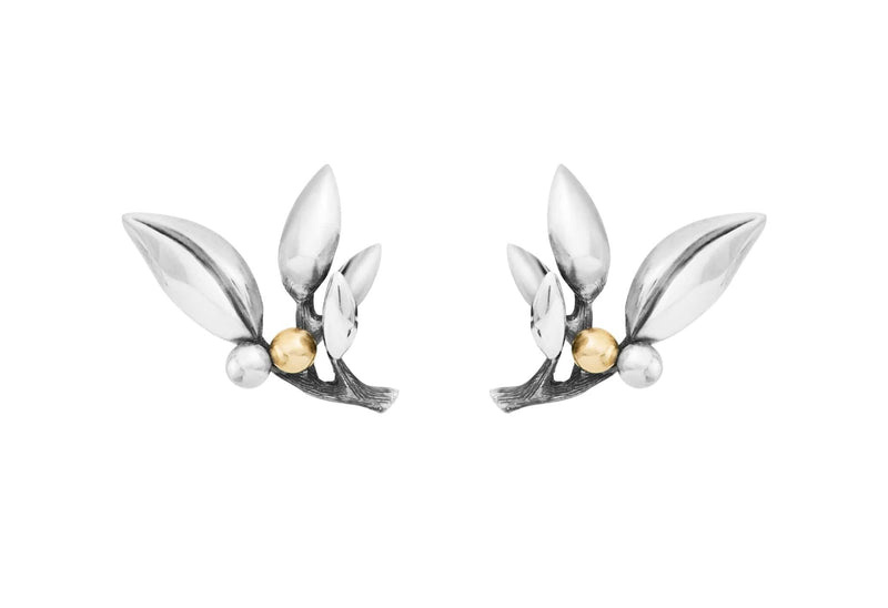 Forest Silver & 18kt Gold Earrings