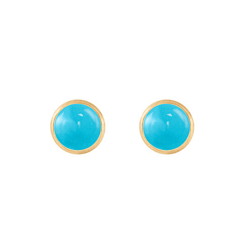 Lotus Turquoise Stud Earrings