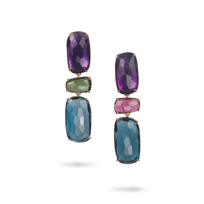 Murano Mixed Gemstone Earrings