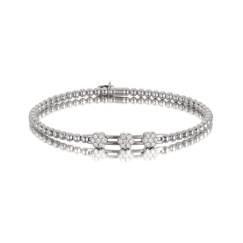 Tresore Diamond Cross Bracelet