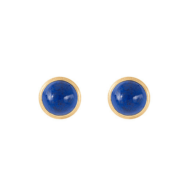 Lotus Lapis Stud Earrings