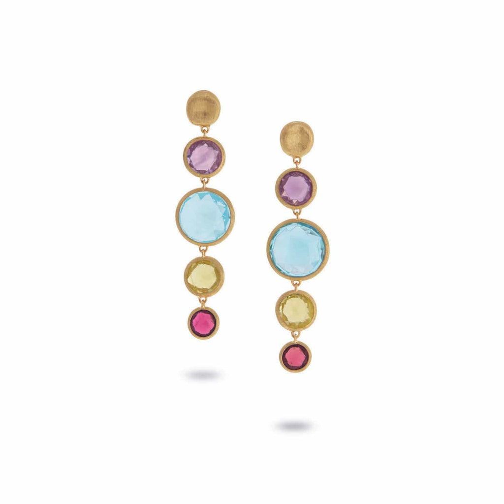 Jaipur Mixed Gemstone Earrings