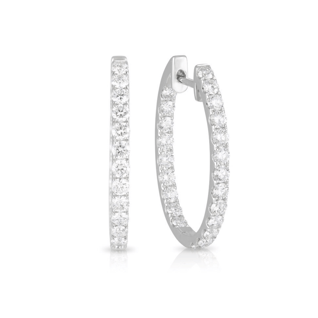 Diamond Day/Night Hoop Earrings