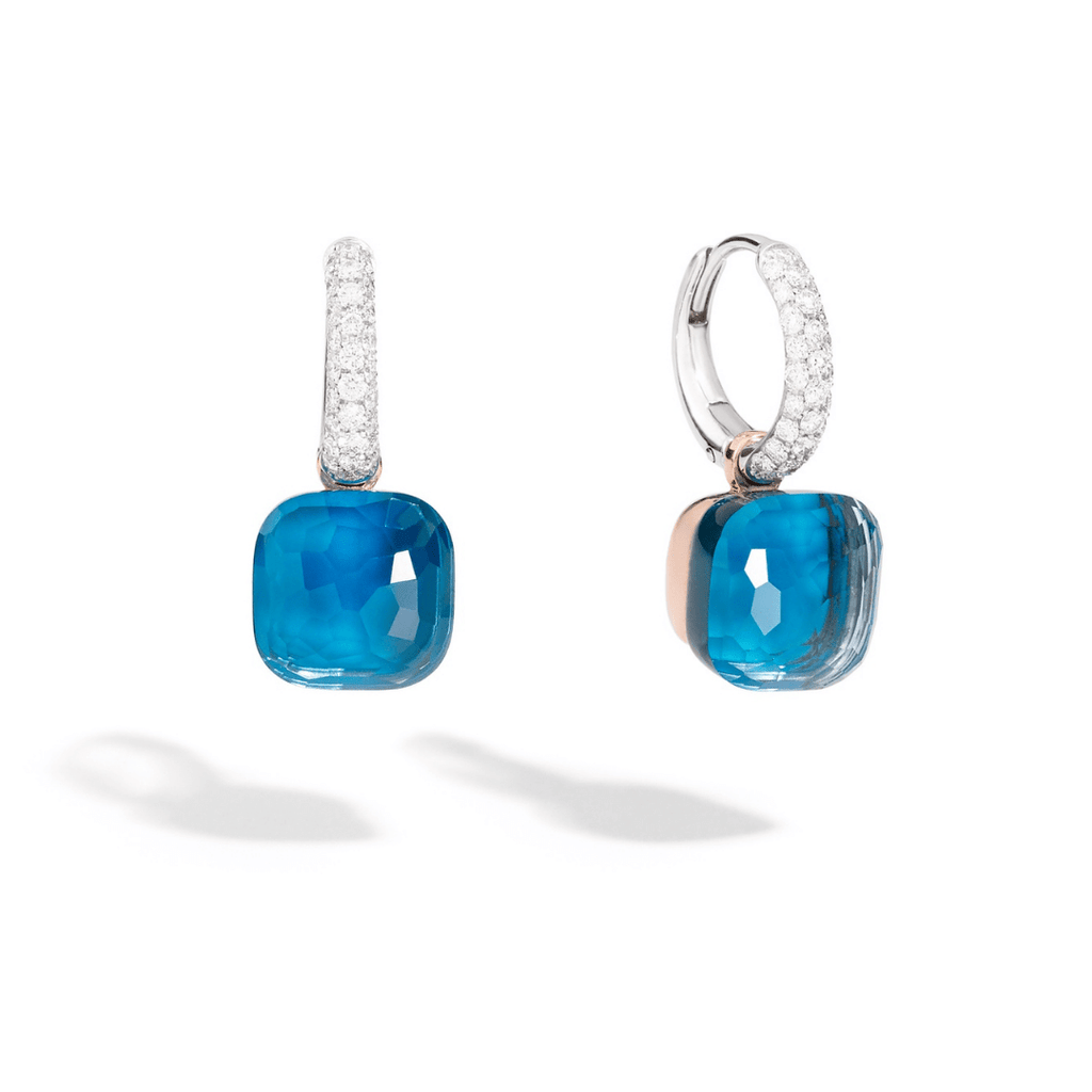 Nudo London Blue Topaz & Diamond Drops