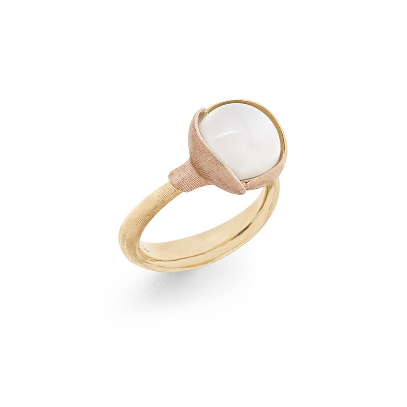 Lotus White Moonstone Ring - Size 2