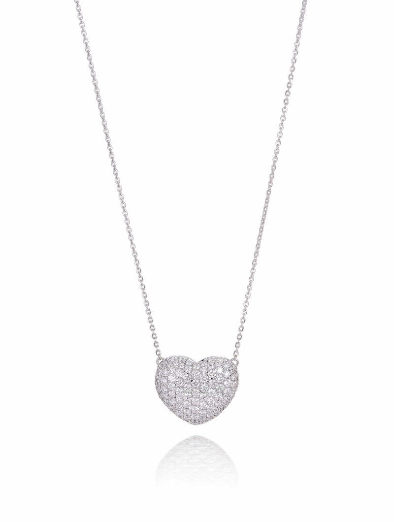 No. 50 - Pave Diamond Set Heart Necklace