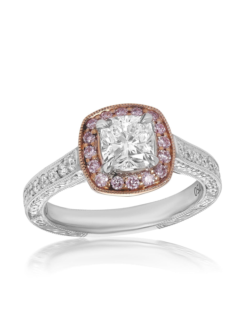 Royal Cushion Cut Diamond Engagement Ring