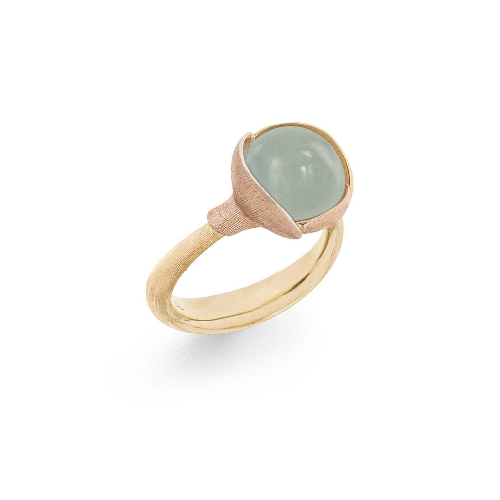 Lotus Aquamarine Ring - Size 2