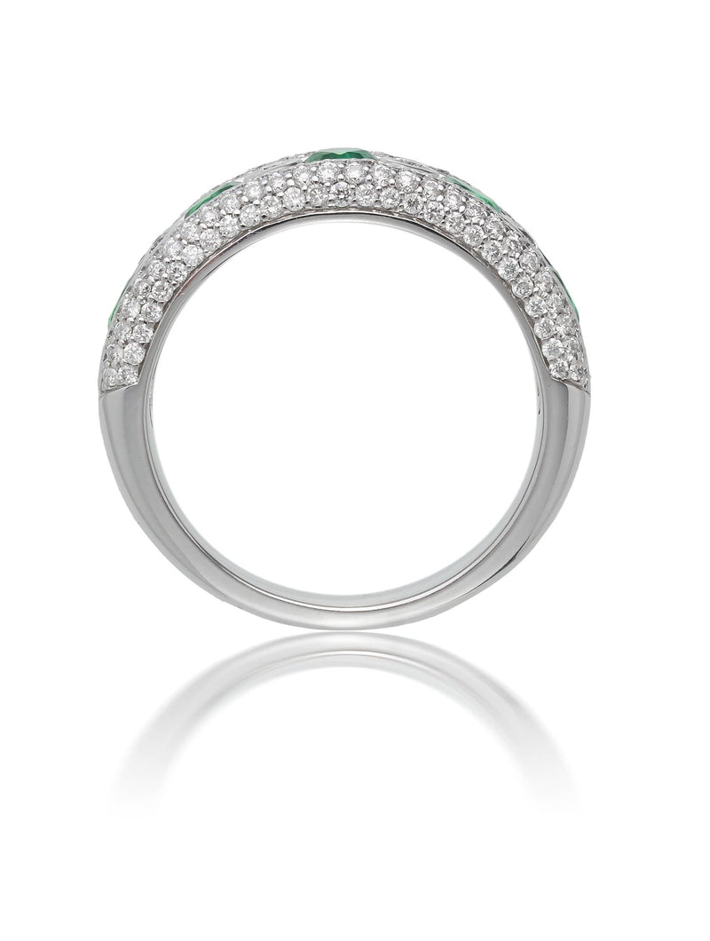 Emerald & Diamond Ring