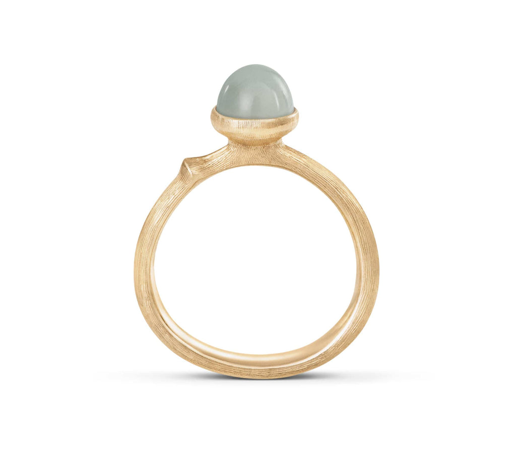 Lotus Aquamarine Ring - Tiny