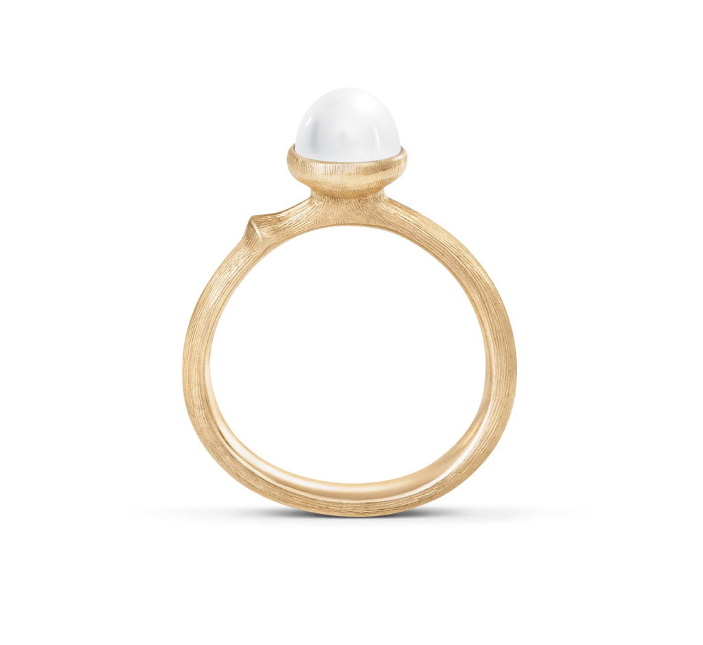 Lotus Pearl Ring - Tiny
