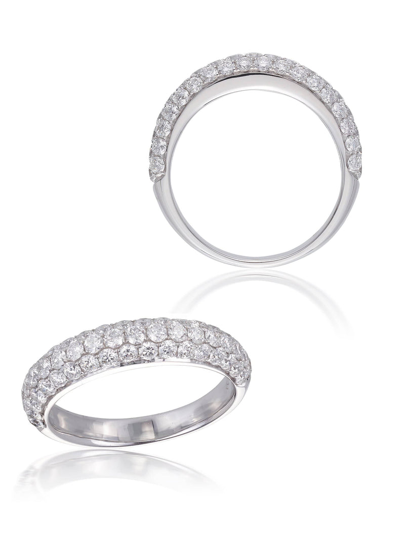 Pave Set Domed Cocktail Ring