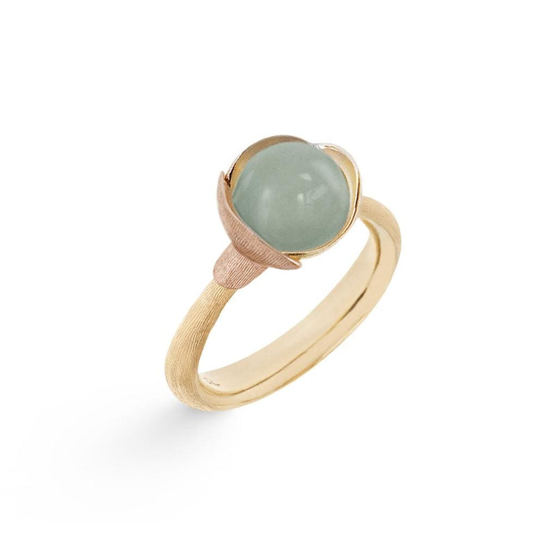 Lotus Aquamarine Ring - Size 1