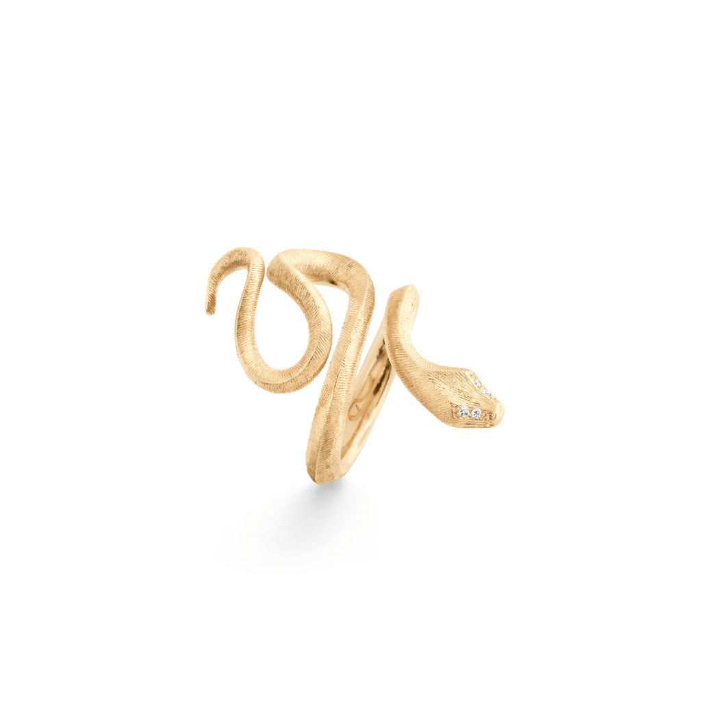 Snakes Diamond Ring - Medium