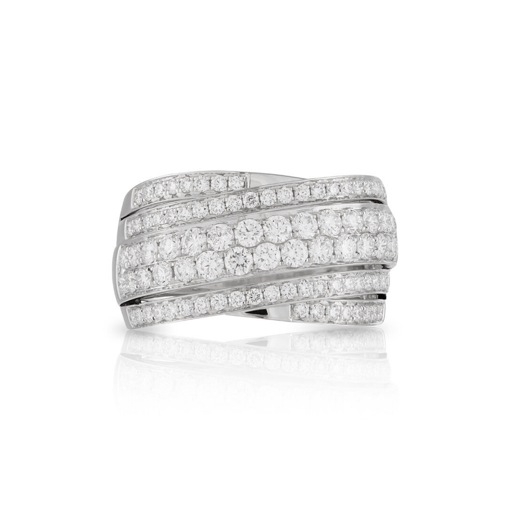 5-Row Diamond Dress Ring