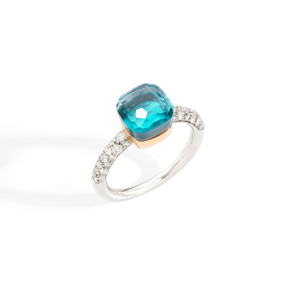 Nudo Sky Blue Topaz & Diamond Ring