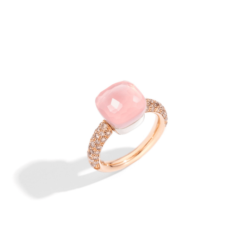Nudo Rose Quartz & Diamond Ring
