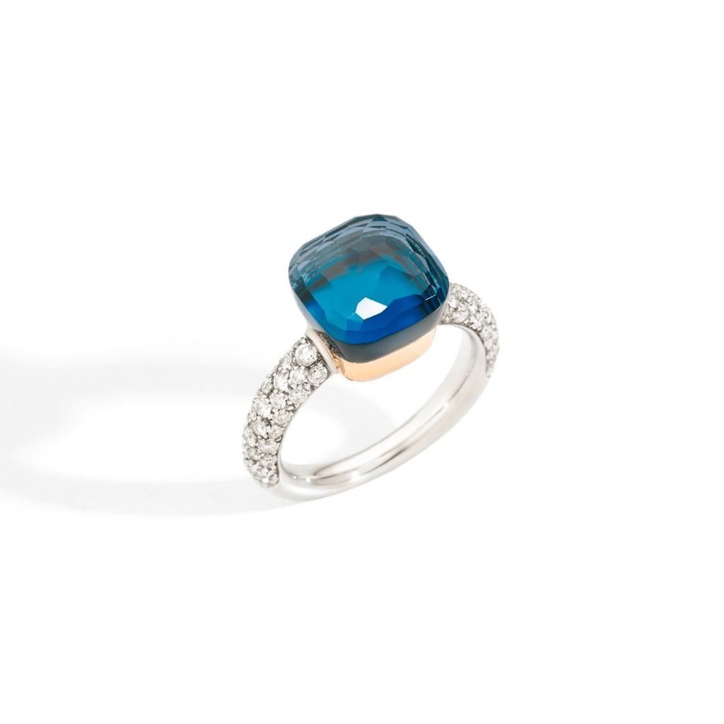Nudo London Blue Topaz & Diamond Ring