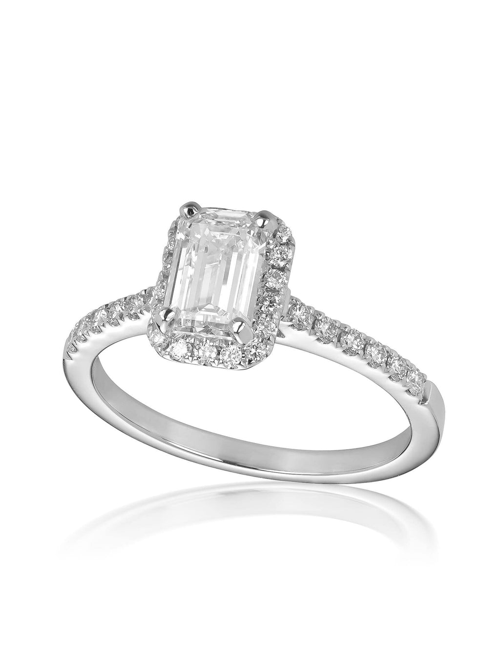 Royal Emerald Cut Diamond Engagement Ring