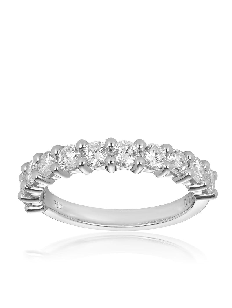 Bead Set Round Brilliant Diamond Set Ring
