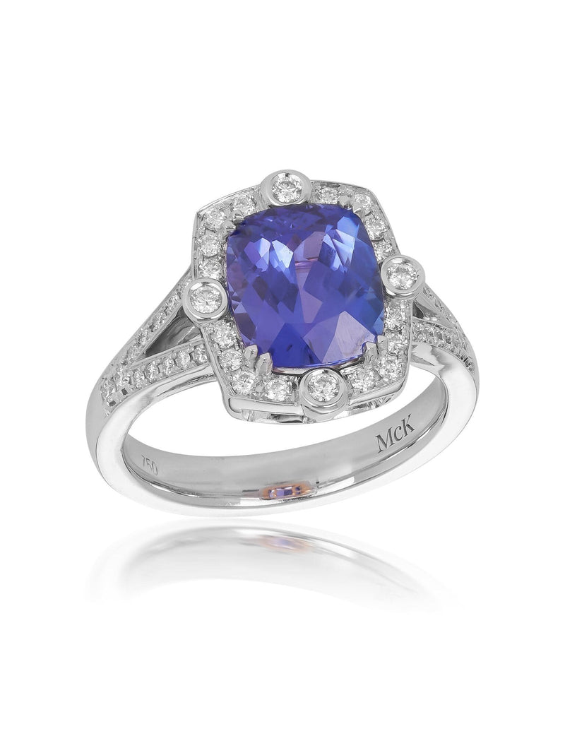 No. 61 - Tanzanite & Diamond Dress Ring