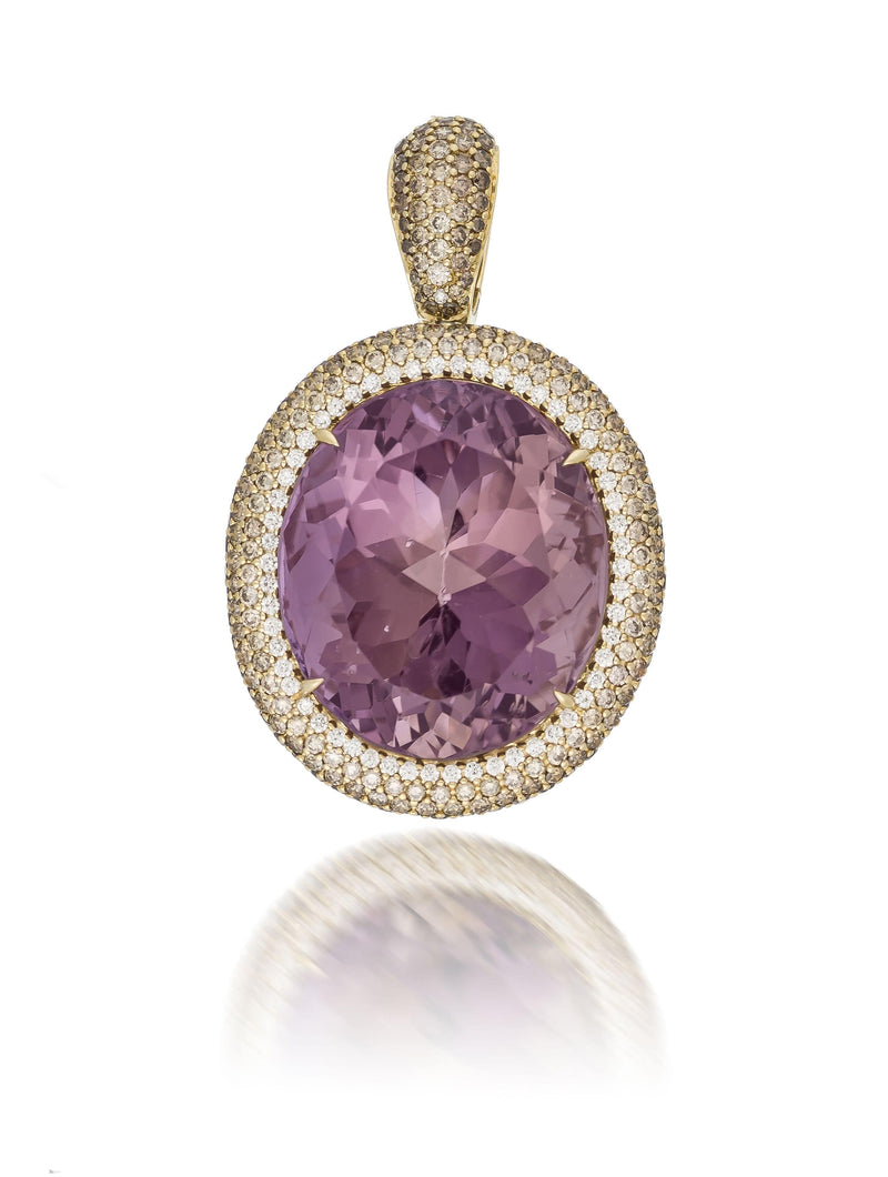 58.92ct Ametrine, White & Cognac Diamond Enhancer Pendant