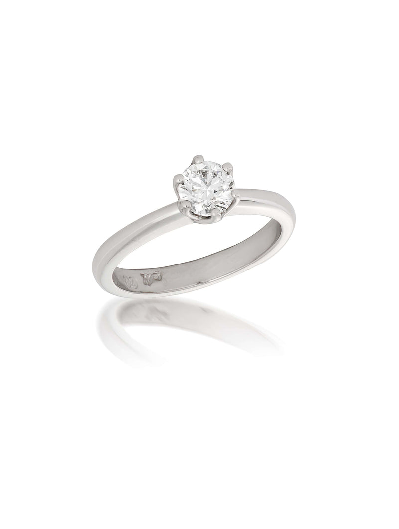6-Claw Solitaire Diamond Ring 0.60ct