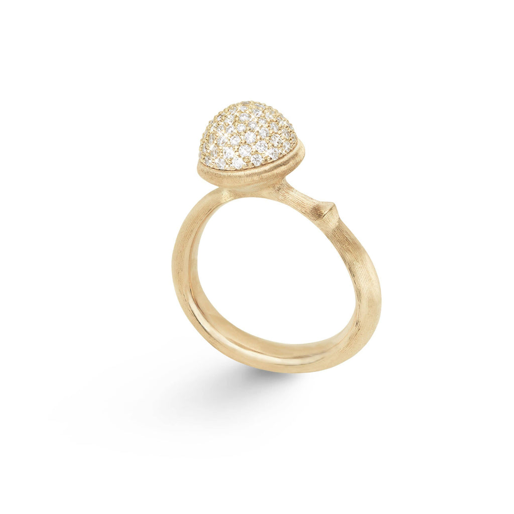 Lotus Medium Pave Diamond Ring