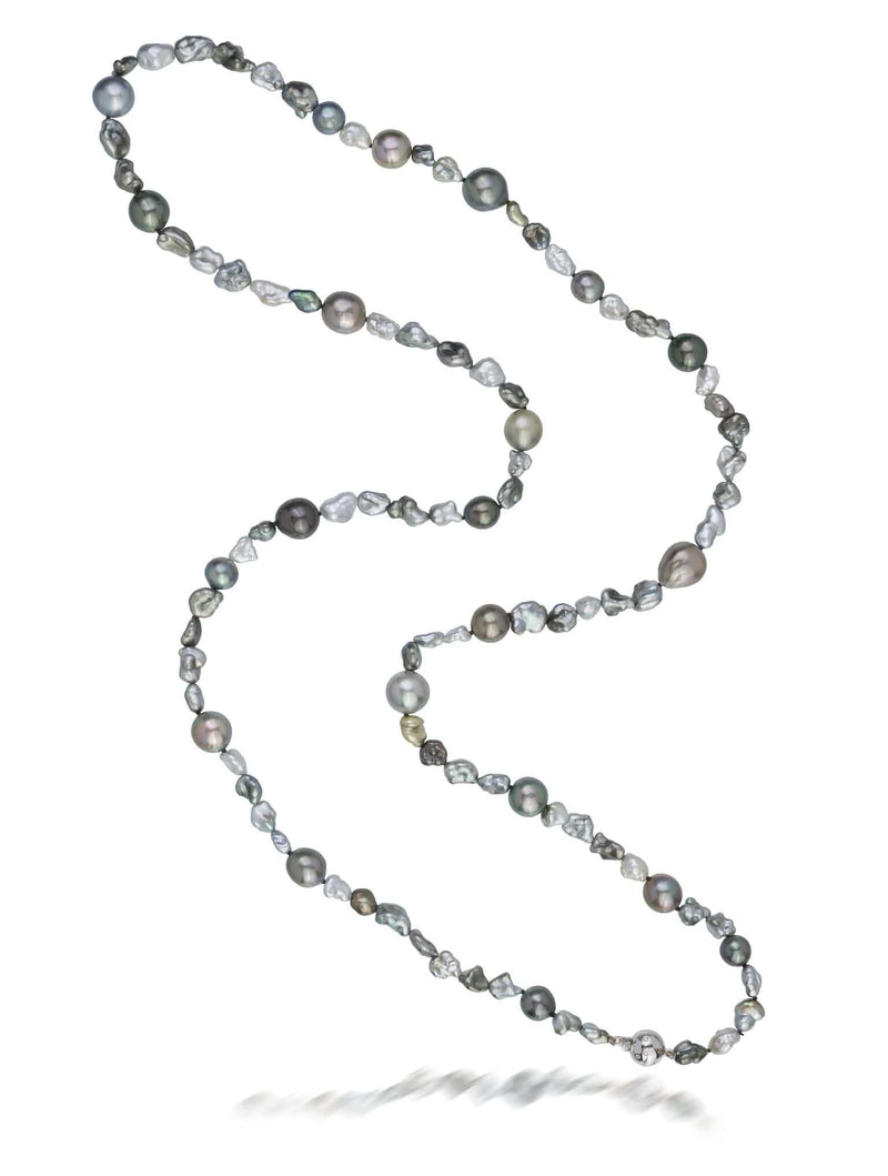 Tahitian South Sea & Keshi Pearl Necklet