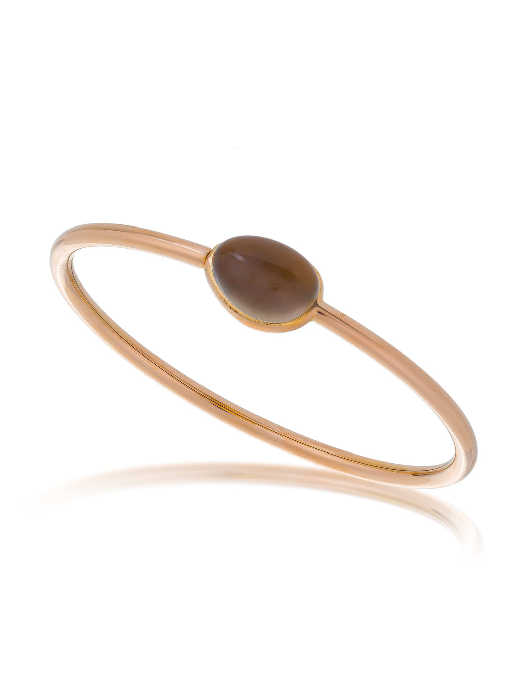 Smoky Quartz Rose Gold Bangle