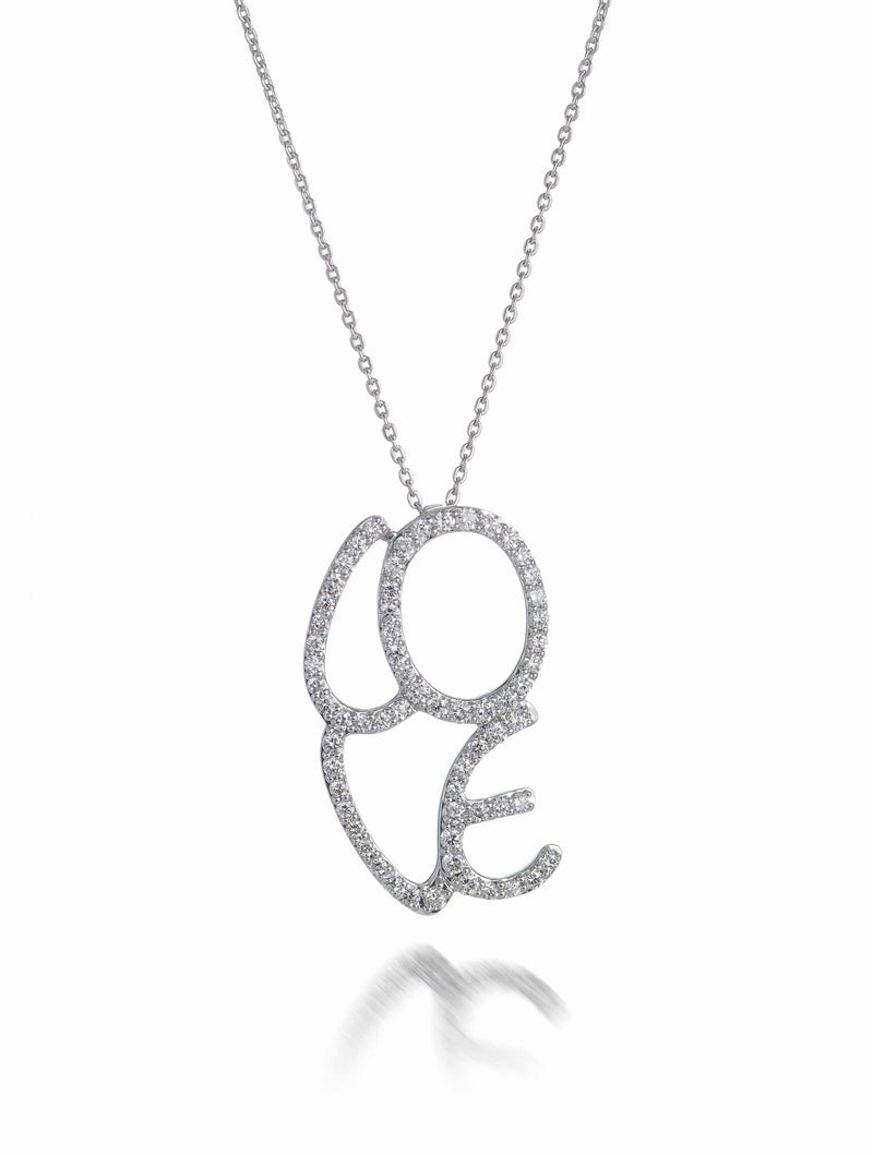 Diamond Set LOVE Necklet