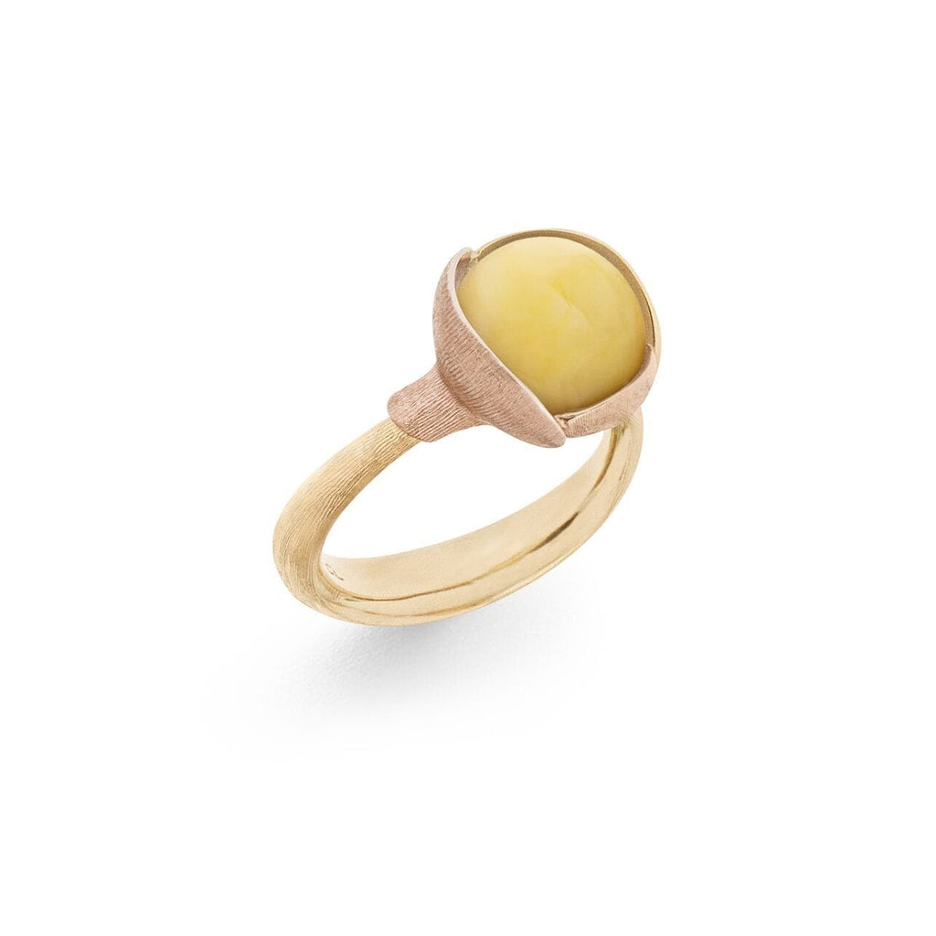 Lotus Amber Ring - Size 2