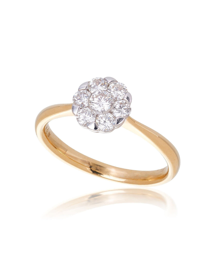 Grace Round Brilliant Cut Diamond Ring