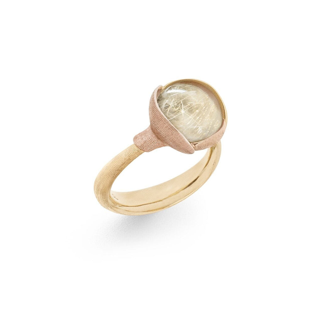 Lotus Rutile Quartz Ring - Size 2