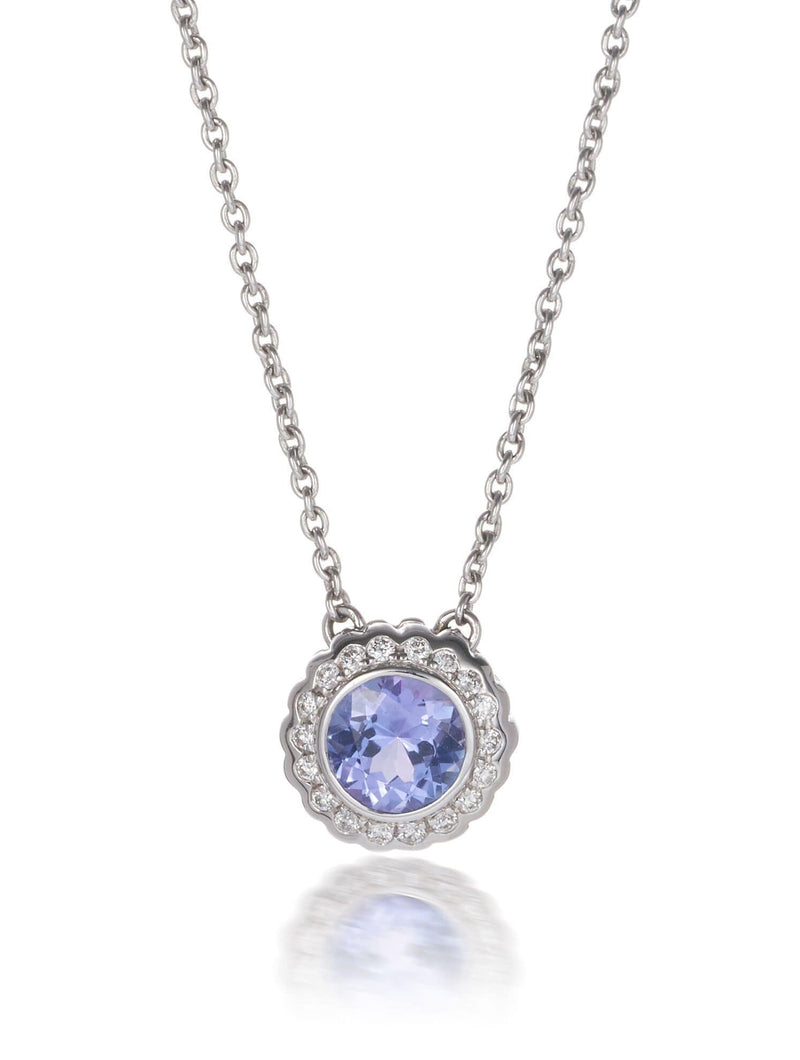 Macaroon Tanzanite & Diamond Necklet