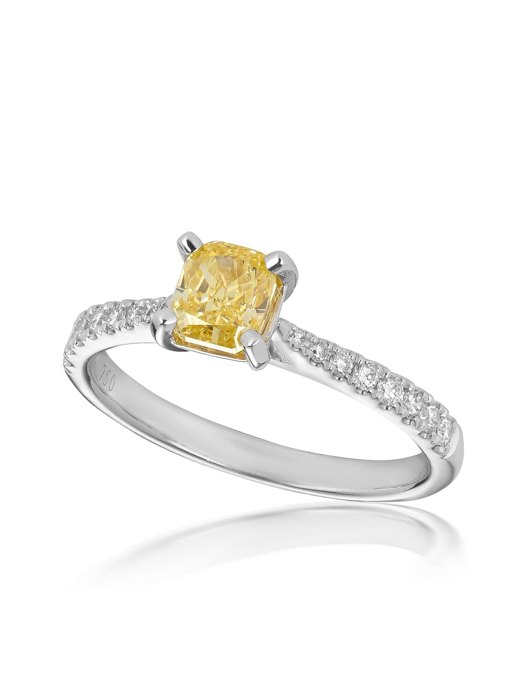 Signature Radiant Cut Yellow Diamond Ring