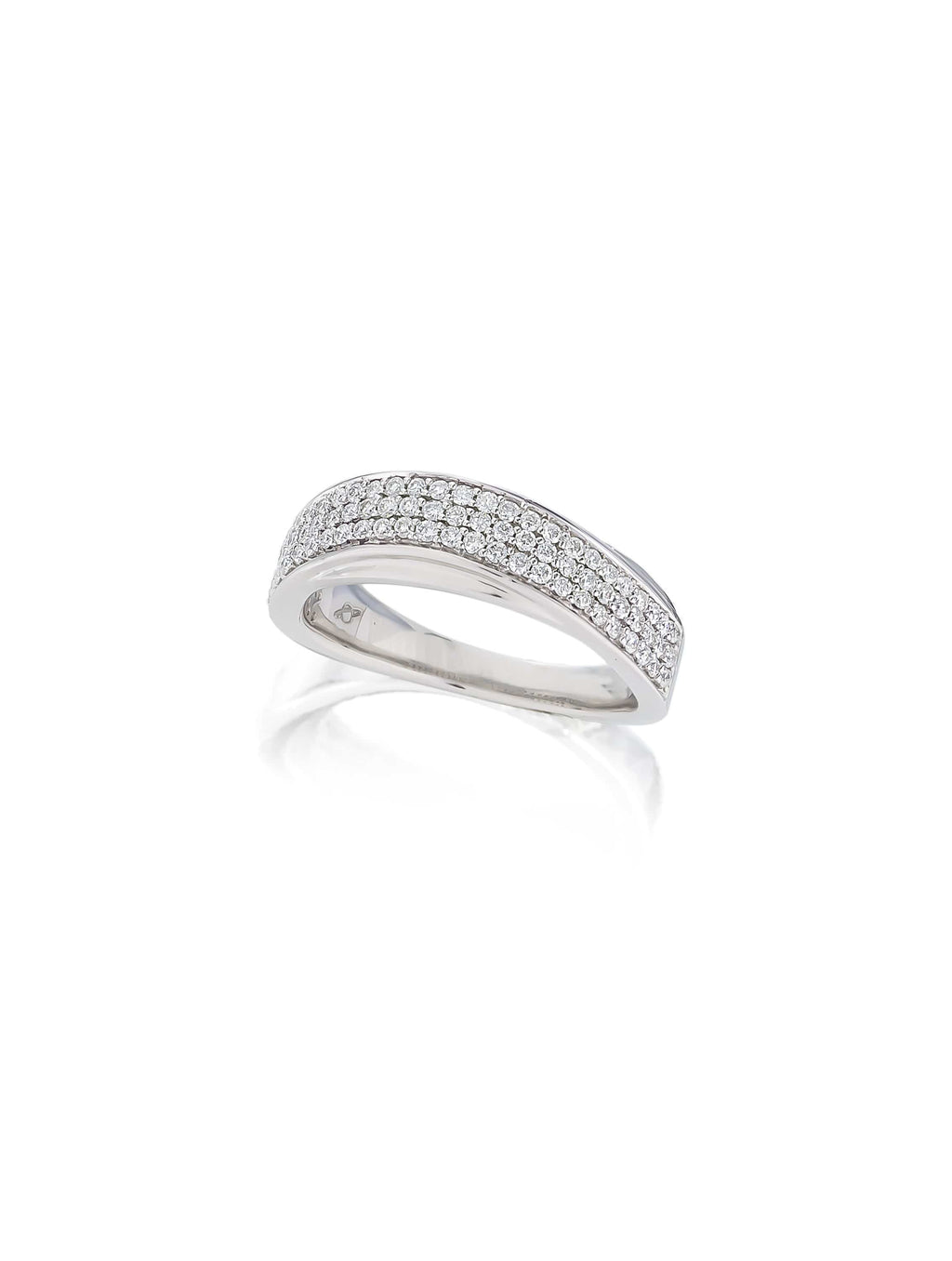 Wave Bead Set Diamond Band