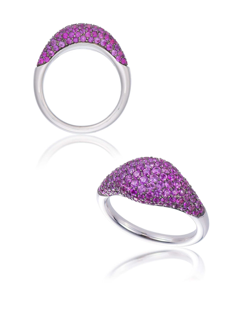 Pink Sapphire Domed Cocktail Ring