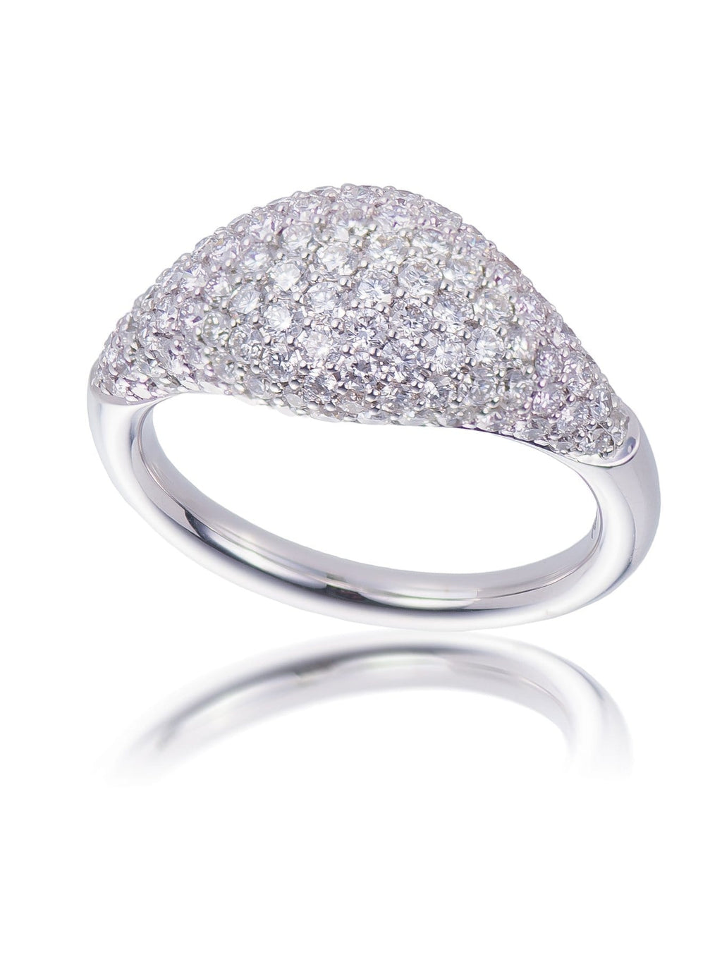 Domed Pave Cocktail Ring