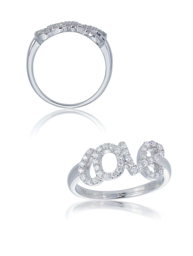No. 22 - Fine Diamond Set LOVE Ring