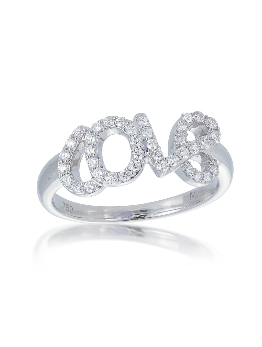 Fine Diamond Set LOVE Ring