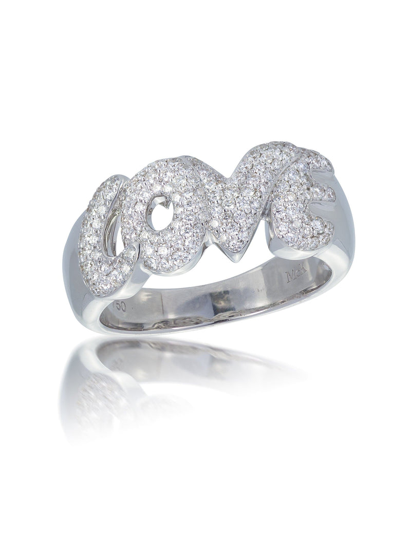 LOVE Pave Set Diamond Ring