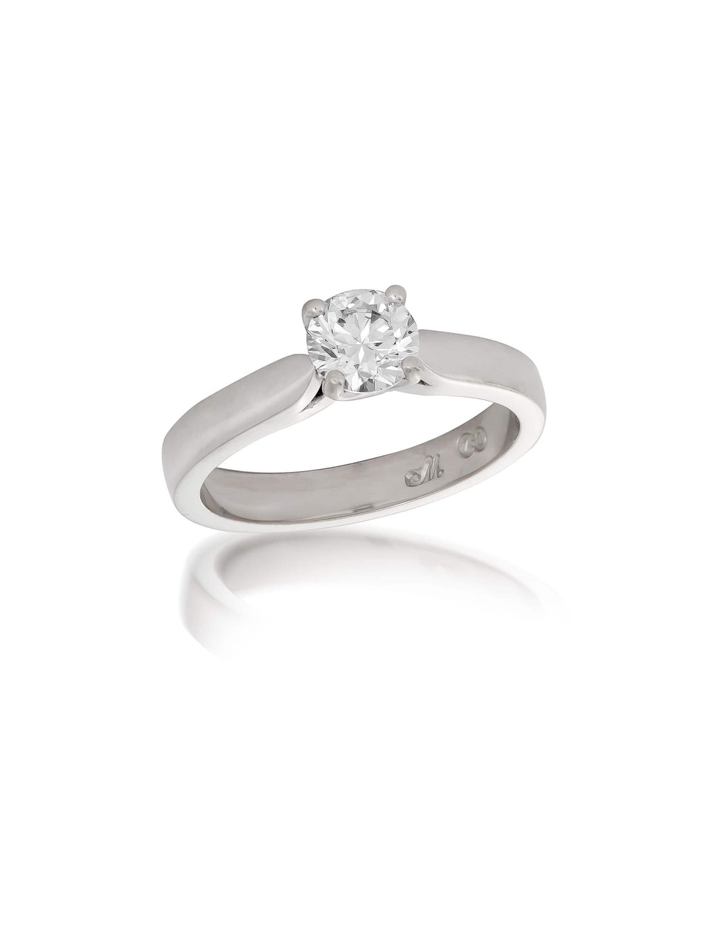Signature Round Brilliant Cut Solitaire Diamond Ring