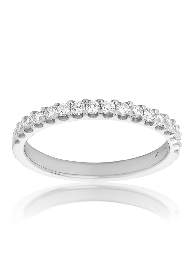 Claw Set Round Brilliant Diamond Ring