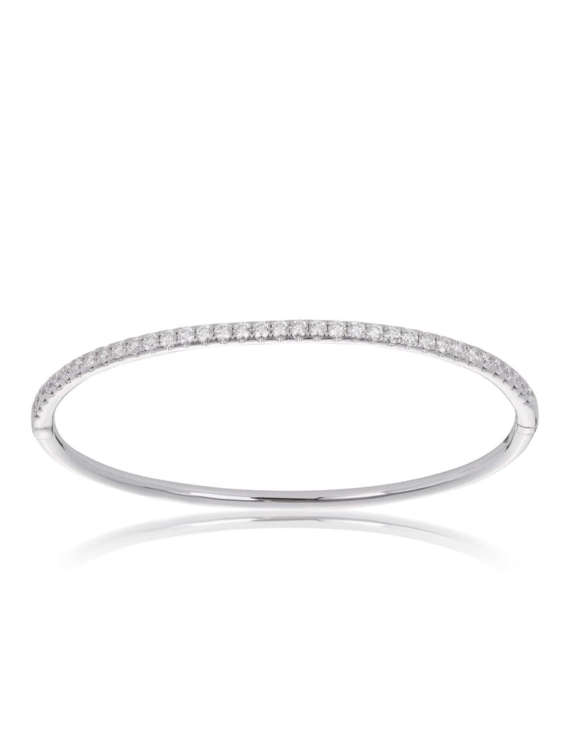 Diamond Hinged Line Bangle